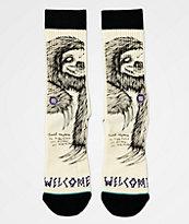 Stance x Welcome Love Aside White & Black Crew Socks