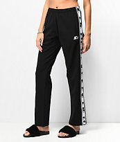 Starter Black Snap Track Pants