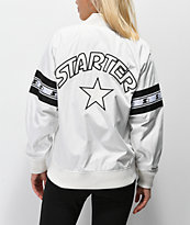 Starter Coaches White Bomber Jacket