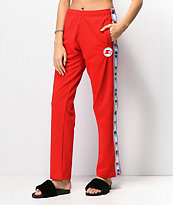 Starter Red Snap Track Pants