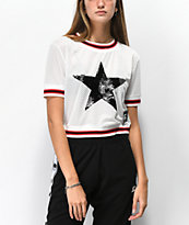 Starter Star jersey corta de malla blanca
