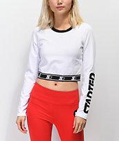 Starter camiseta corta de manga larga en blanco
