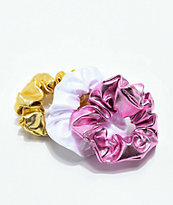 Stone + Locket Shiny Scrunchies Pack