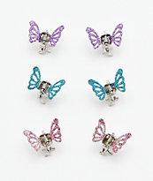 Stone + Locket paquete de 6 pinzas de pelo de mariposa