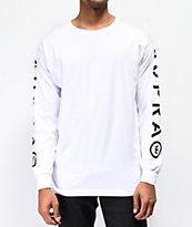 Supra All Caps camiseta blanca de manga larga
