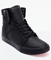 Supra Skytop Muska Red Carpet Edition Tuf Black Skate Shoes