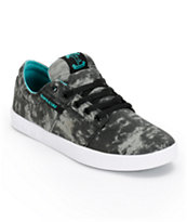Supra Stacks Acid Wash & Turquoise Canvas Skate Shoe