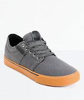 Supra TK Stacks Vulc Grey & Gum Canvas Skate Shoe