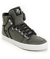 Supra Vaider Black Washed Canvas Shoe