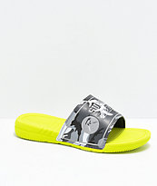 Supra x Rothco Locker Neon Green & Camo Slide Sandals
