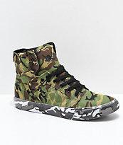 Supra x Rothco Skytop Green Camo Skate Shoes