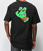 TMNT x Santa Cruz Mikey Hand Black & Orange T-Shirt