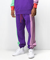Teddy Fresh Colorblock Purple Joggers