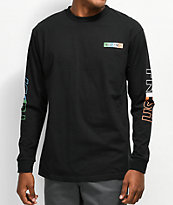 Teddy Fresh Tones Black Long Sleeve T-Shirt