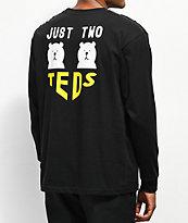 Teddy Fresh Two Teds Black Long Sleeve T-Shirt