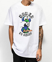 Teenage Bored To Death White T-Shirt