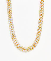 "The Gold Gods 12mm Flooded Diamond 18"" Cuban Chain Necklace"