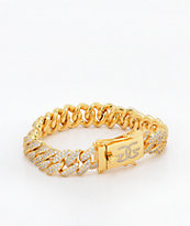 The Gold Gods 12mm Flooded Diamond Cuban Link Bracelet