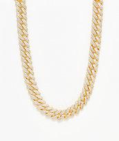 "The Gold Gods 12mm Flooded Diamond collar de cadena cubana de  18"""