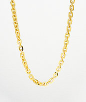 "The Gold Gods 5mm Hermes Link 18"" Gold Chain Necklace"