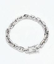 The Gold Gods 5mm Hermes Link pulsera de cadena de oro blanco