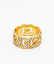 The Gold Gods Diamond Cuban Ring