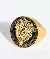 The Gold Gods anillo de oro de león