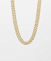 The Gold Gods collar de cadena cubana con diamantes