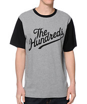 The Hundreds Conrad Grey & Black Tee Shirt