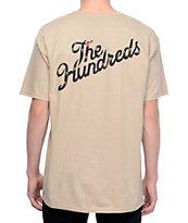 The Hundreds Rose Fill Slant camiseta marrón