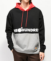 The Hundreds Sierra sudadera con capucha roja, negra y gris