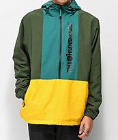 The Hundreds State Olive Anorak Jacket