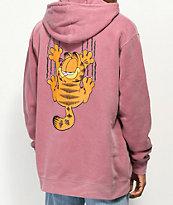 The Hundreds x Garfield Bar Maroon Pigment Hoodie