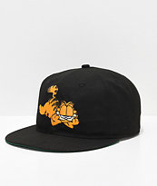 The Hundreds x Garfield Black Snapback Hat