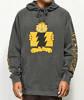 The Hundreds x Garfield Flag Logo Black Pigment Hoodie