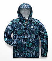 7f219b57e The North Face Fanorak Navy Woodland Floral Anorak Jacket