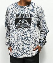 The Quiet Life Loners Club camiseta gris de manga larga con efecto tie dye