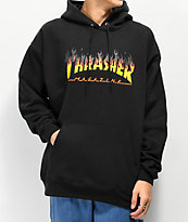Thrasher BBQ Flame Black Hoodie