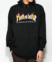 Thrasher Flame Magazine Black Hoodie