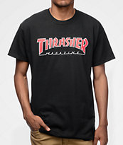 Thrasher Magazine Outlined camiseta negra