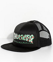 Thrasher Roses Black Trucker Hat