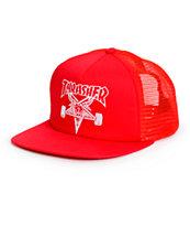 Thrasher Skategoat Red Trucker Hat