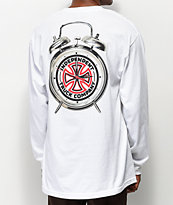 Thrasher x Independent Time To Go camiseta blanca de manga larga