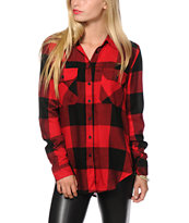 Thread & Supply Oversized Red Plaid Shirt
