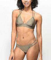 Trillium Alex Shimmer Taupe Strappy Super Cheeky Bikini Bottom