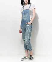Trillium Hana Medium Wash Destroyed Overalls