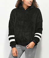 Trillium Wubby Athletic Stripes Black Hoodie