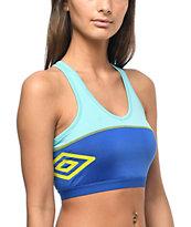Umbro Aqua & Blue Padded Sports Bra