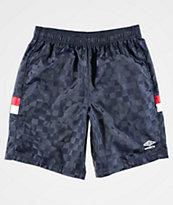 Umbro Tri-Checkered Navy Shorts