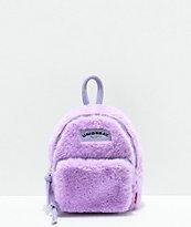 Unionbay mini mochila morada con efecto peluche